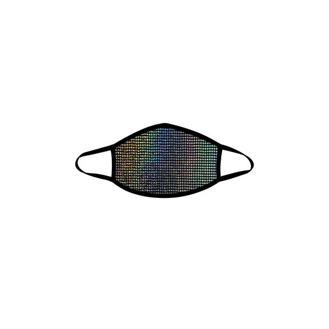Disco Robot Face Mask - Black - One Size Fits Most by  Discount