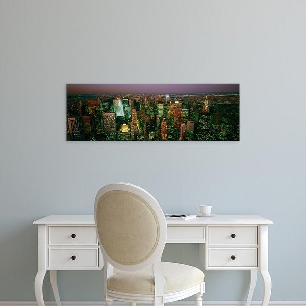 Easy Art Prints Panoramic Images's 'Aerial view of a city, New York City, New York State, USA' Premium Canvas Art