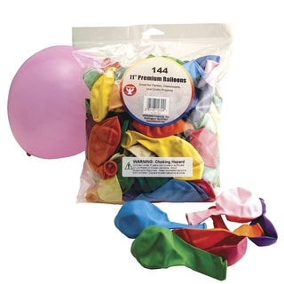 Hygloss Premium Balloon, 11 in, Assorted Color, Pack of 144