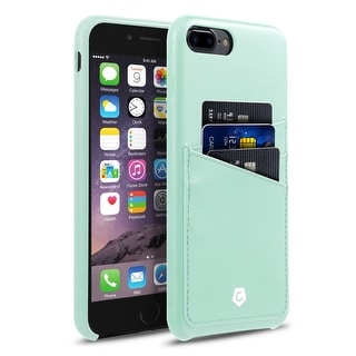 CobblePro Mint Green Leather with Wallet Flap Pouch For Apple iPhone 7 Plus