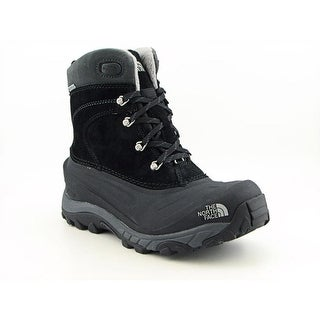 The North Face Chilkat II Men Round Toe Leather Black Snow Boot