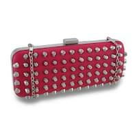 Conical Chrome Studded Handbag Hard Shell Clutch Purse