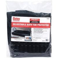 Oatey 34126 Rectangular Adjustable Bath Tub Protector, Black
