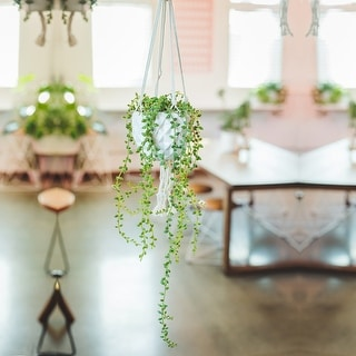 Link to Artificial Plant STRING OF PEARLS MACRAME HANGING CERAMIC - ONE-SIZE Similar Items in Decorative Accessories