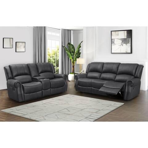Abbyson Calabasas Reclining Sofa and Loveseat Set