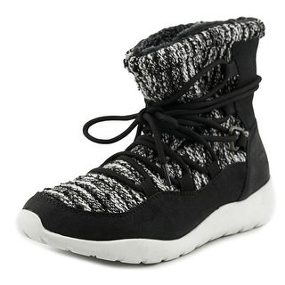 Rocket Dog Otis Women Round Toe Canvas Black Winter Boot