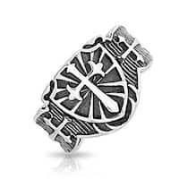Bling Jewelry Stainless Steel Medieval Cross Biker Motorcycle Ring