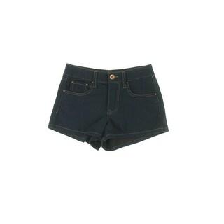 Dollhouse Womens Juniors Denim Shorts High Waist Flat Front