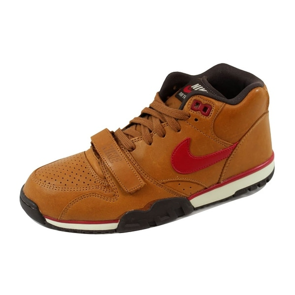 best sneakers 4b0aa 0d1e6 Nike Men  x27 s Air Trainer 1 Mid Premium Hazelnut Gym Red-