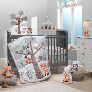 Link to Bedtime Originals Woodland Friends 3-Piece Animals Mint/Gray Crib Bedding Set Similar Items in Bedding Sets