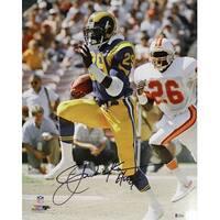 b4668c95 Shop Eric Dickerson Autographed Los Angeles Rams Mini Helmet HOF BAS ...