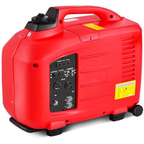 Costway Portable 3500W Digital Inverter Generator 4 Stroke 149cc Single Cylinder Red