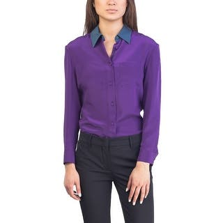 Prada Women's Silk Blouse Shirt Two Tone https://ak1.ostkcdn.com/images/products/is/images/direct/c2616e6f6819eb451a59ad743542d9b8b35d4aac/Prada-Women%27s-Silk-Blouse-Shirt-Two-Tone.jpg?impolicy=medium