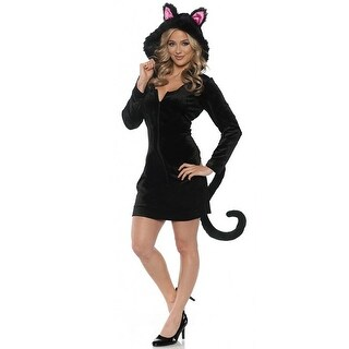 Underwraps Black Cat Mini Dress Adult Costume