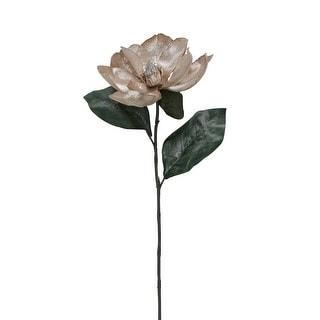 "20"" Metallic Rose Gold Magnolia Artificial Christmas Stem"