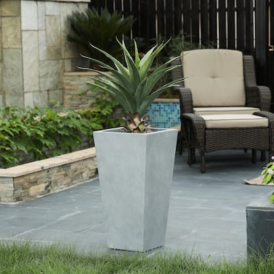 Tall Tapered Square MgO Planter