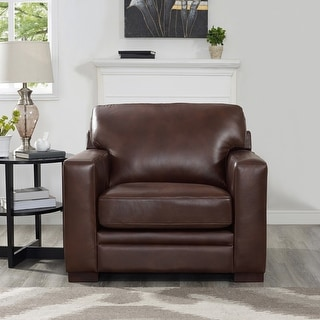 Link to Hydeline Dillon Top Grain Leather Armchair Similar Items in Living Room Chairs