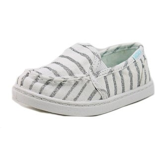Roxy TW Lido III S Toddler Moc Toe Canvas White Loafer