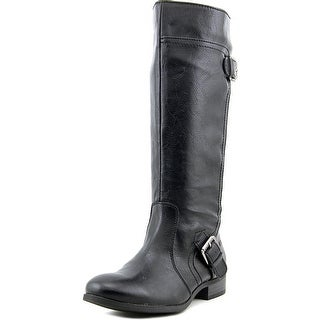 Nine West Sookie Round Toe Leather Knee High Boot