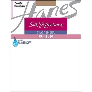 Hanes Silk Reflections Plus Enhanced Toe Sheer Pantyhose - 3p
