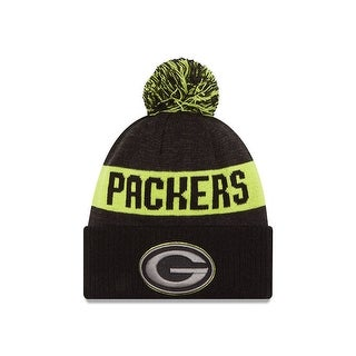New Era 2016 Green Bay Packers Blk/Gph/Cyg Sport Knit Hat