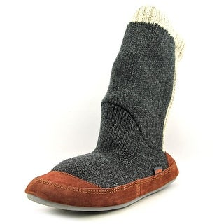 Acorn Slouch Boot Men  Round Toe Canvas Gray Slipper