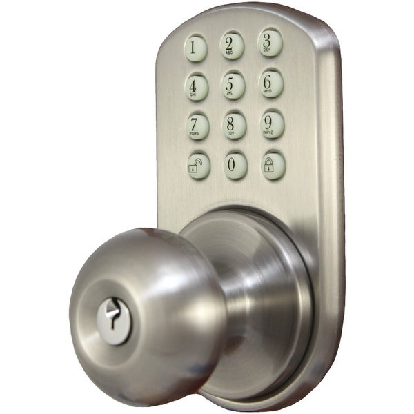 Morning Industry Inc Touchpad Electronic Doorknob (satin Nickel)