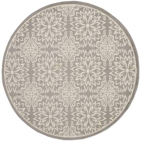 Nourison Jubilant Floral Medallion Area Rug