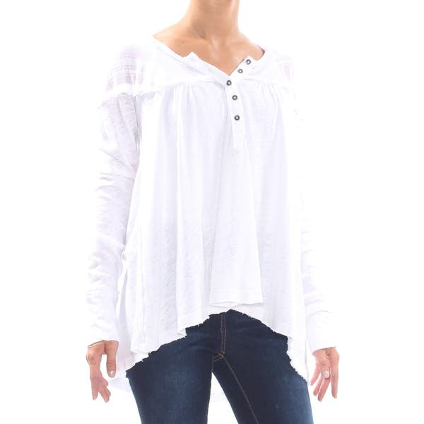 NWT Free People Down Under Henley Top White Retail XS M NWT $68
