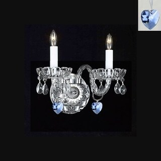 Swarovski Crystal Trimmed Sconce Murano Venetian Style Crystal Wall Sconce Lighting