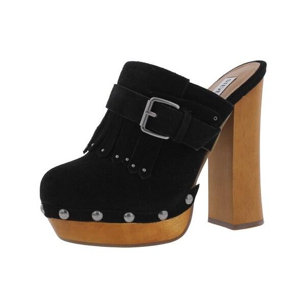 6d849329671 Steve Madden Womens Helgga Clogs Closed Toe Block Heel - 7 medium (b