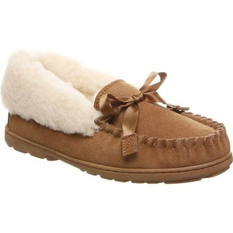 Bearpaw Women's Indio Moccasin Slipper Hickory II Suede