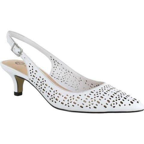 Bella Vita Women's Sybil Slingback Pump White Leather