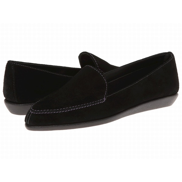The Flexx NEW Black Shoes Size 5.5M Loafers Slip-On Leather Flats