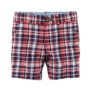 Carter's Baby Boys' Plaid Flat-Front Twill Shorts, 24 Months