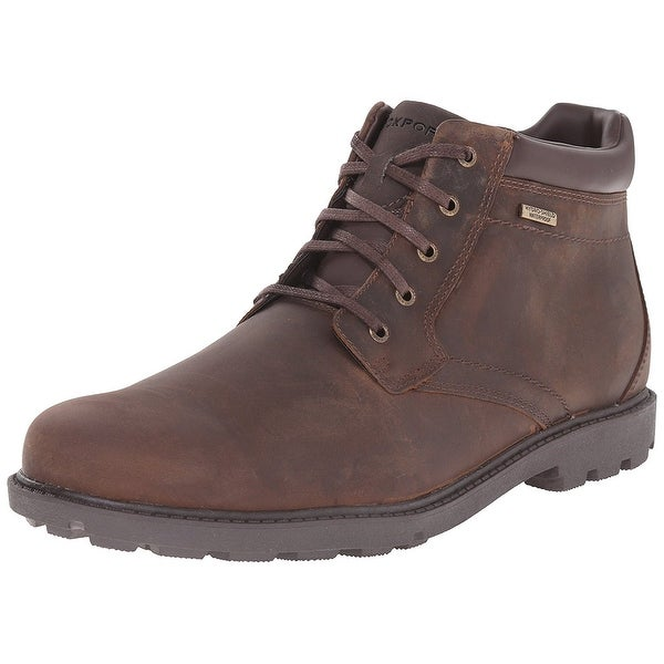 Rockport Mens SS Plain Toe Boot Leather Closed Toe Ankle Cold Weather Boots