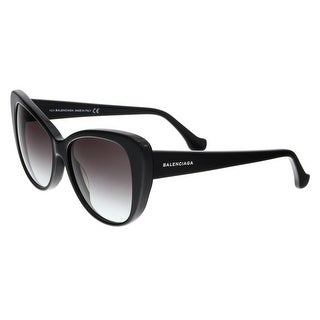 Balenciaga BA0016 01B Shiny Black Cat Eye Sunglasses