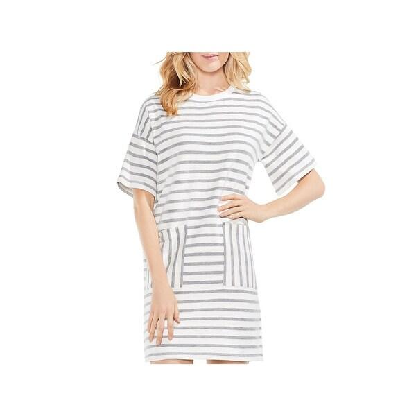 c0140f872ec0 Shop Vince Camuto Womens T-Shirt Dress Stripe Short Sleeve - XS ...