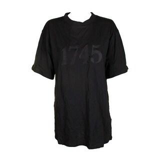 Minkpink Charcoal Short-Sleeve 1745 Cotton Oversized T-Shirt L