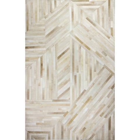 Bashian Newt Contemporary Hand Stitched Area Rug