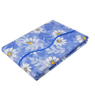 """Unique Bargains Home Picnic Daisy Pattern Oil-proof Tablecloth Table Cloth Cover Blue 71"""" x 54"""""""
