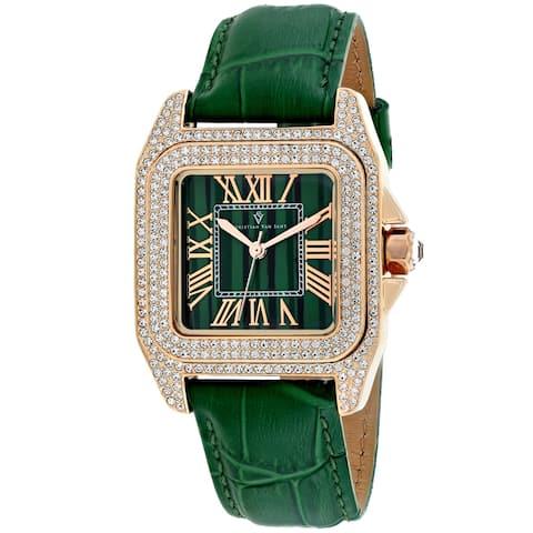 Christian Van Sant Women's Radieuse Green Dial Watch - CV4424 - One Size