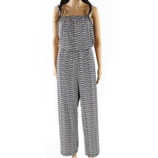 Vince Camuto NEW White Womens Size Large L Animal Print Jumpsuit