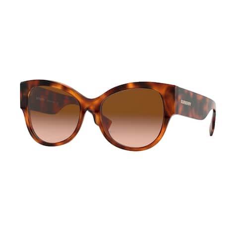 Burberry BE4294 33163B 54 Light Havana Woman Butterfly Sunglasses - Tortoise