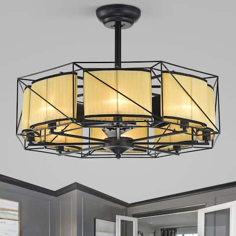 """33"""" Leinali 3 Blade Chandelier Ceiling Fan with Remote Control and Light Kit Included"""