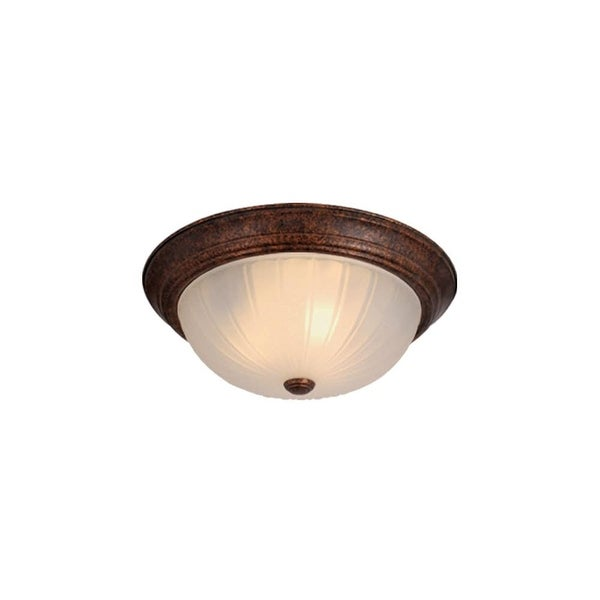 Vaxcel Lighting CC1753 2 Light Flush Mount Indoor Ceiling Fixture with Frosted Glass Shade - 13.13 Inches Wide