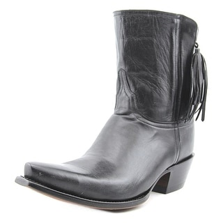 Lucchese Flannery Women C Square Toe Leather Black Western Boot