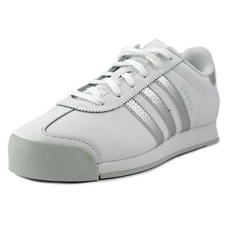 Adidas samoa Men  Round Toe Leather White Sneakers