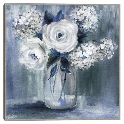Indigo Bouquet by Nan Framed Canvas Art Print