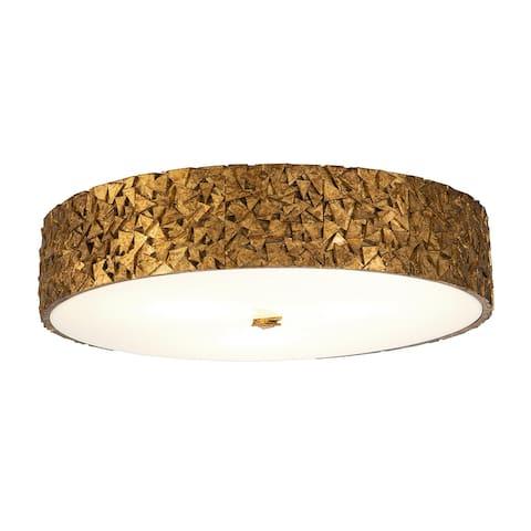 Mosaic 3-Light Flush in Gold